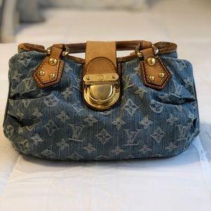 Louis Vuitton Pleaty Denim Bag